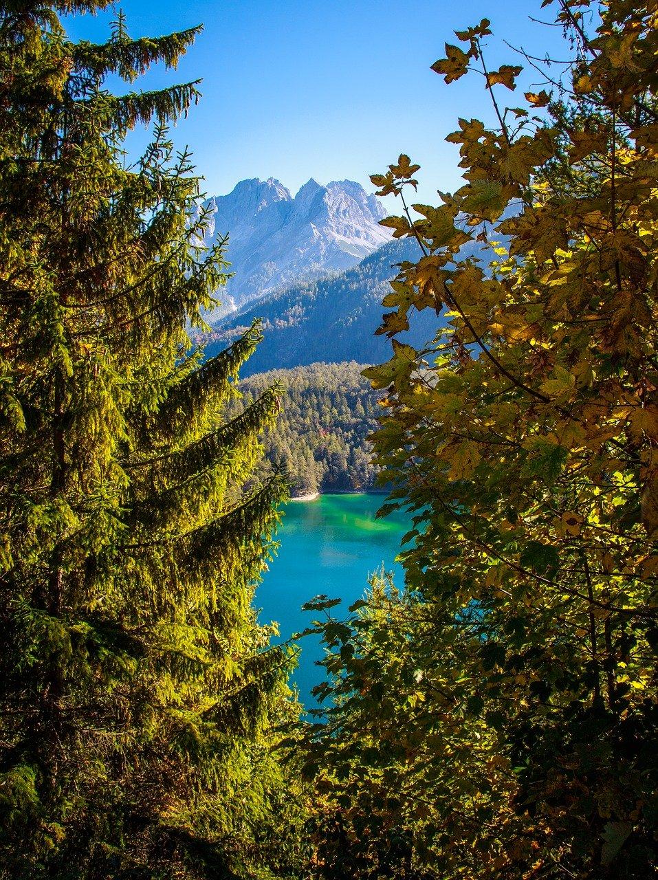 zugspitze, bergsee, alpine